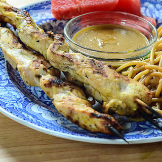 Grilled Chicken Satay with Peanut Dipping Sauce