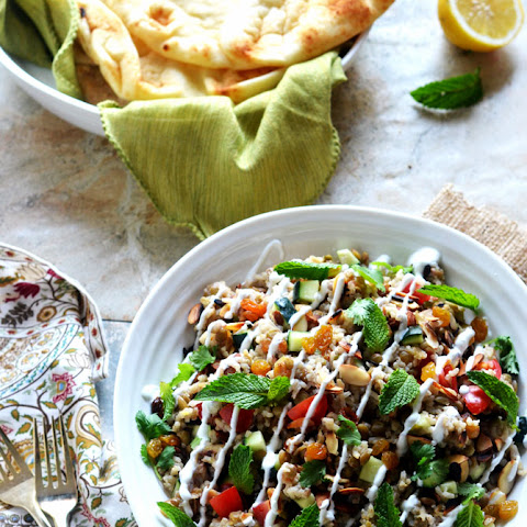 Indian Spiced Rice & Lentil Salad