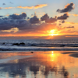 Reflections by Rick Blakeley - Landscapes Cloud Formations ( cloud formations, sunset, pacific ocean, cloudscape, beach )