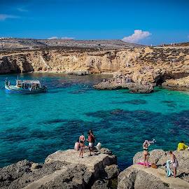 Blue Lagoon Malta by Tony Hampel - Landscapes Beaches