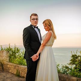 Bride & Groom by Paweł Mielko - Wedding Bride & Groom ( wedding photography, wedding photographers, wedding day, weddings, wedding, greece, wedding photographer, bride and groom, bride, groom )