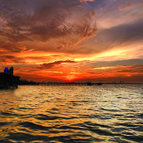 SUNSET DRAMATIC ANCOL  by Arif Otto - Landscapes Sunsets & Sunrises ( sunset#ancol#red )