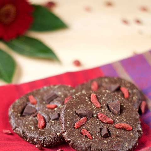 No-Bake Chocolate Almond Cookies with Hemp Protein