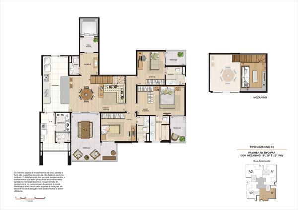 Planta 156 m² Unidade 224