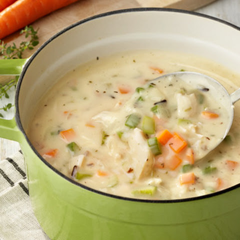 Creamy Chicke & Rice Soup (slow cooker)