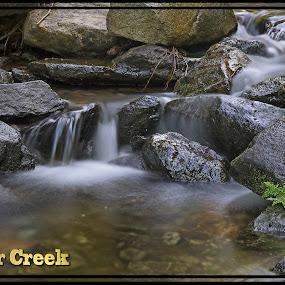 Boulder Creek by Danny Bruza - Typography Captioned Photos ( waterscape, water, alpine village,  )