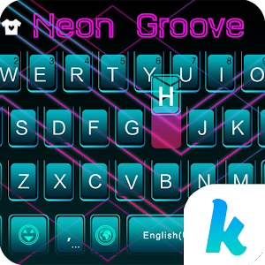 Neon Groove Kika KeyboardTheme For PC (Windows & MAC)