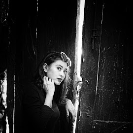 by J W - Black & White Portraits & People