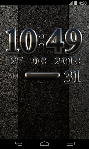 Black Digital Clock Widget - screenshot