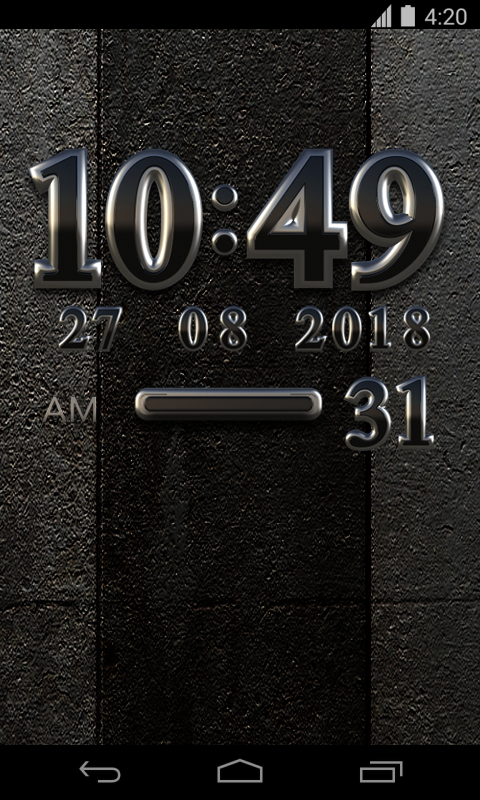 Black Digital Clock Widget Screenshot 1