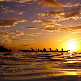 Knights of Golden Sea by Brandon Mardon - Landscapes Sunsets & Sunrises