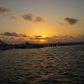 Sunrise on Ambergris Caye Belize  by Terry Palmer - Novices Only Landscapes ( new day, peaceful, nature, ambergris caye, belize, sunrise )