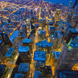 Chicago From Above by Casey Woolf - City,  Street & Park  Skylines