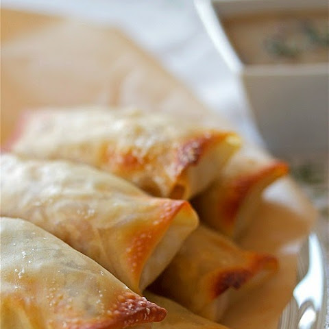 Baked Poutine Spring Rolls