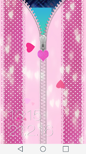 Cute Pink Zipper Lock Screen - screenshot