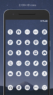 Light Void - Flat White Icons (Free Version) Screenshot