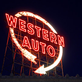 Western Auto Sign as seen in KC by Jackie Eatinger - Artistic Objects Signs (  )