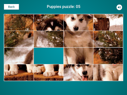 Puppies Sliding Jigsaw Screenshot