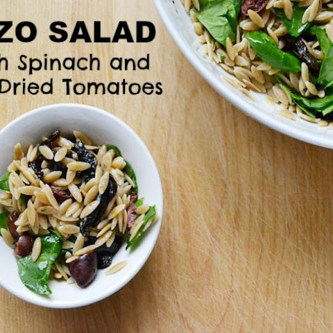 Orzo Salad with Spinach and Sun Dried Tomatoes