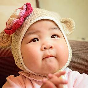 cha-cha Bear by Sandy Boentarya - Babies & Children Children Candids
