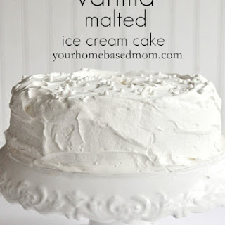 Vanilla Malted Ice Cream Cake