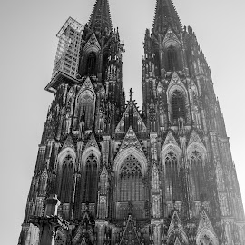 Koln Dome by Jose Luis Guzman - Buildings & Architecture Places of Worship ( religion, spectacular, b&w, church, buildig, dome, koln, cathedral, stunning, religious, black&white )