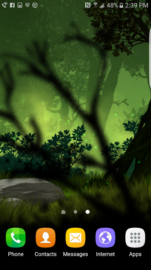 Fantasy Night Forest  Live WP Screenshot 4