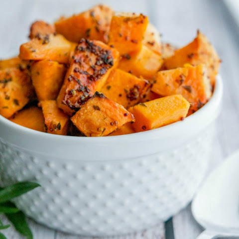 Mustard & Tarragon Roasted Sweet Potatoes