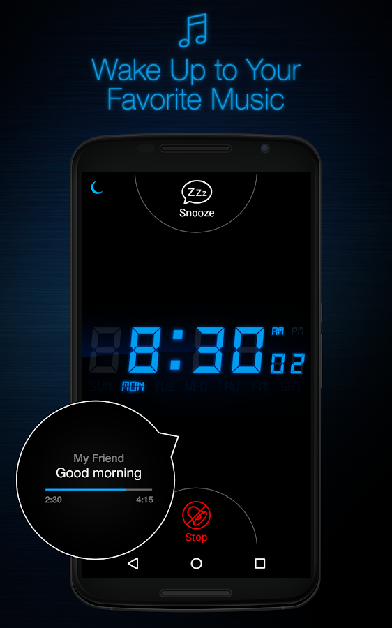 My Alarm Clock Free Screenshot 0