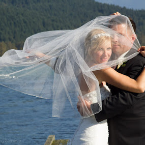 by Anthony Schwab - Wedding Bride & Groom ( wedding photography, rowena's inn on the river, canada, fall, lower mainland, harrison river, tara and dustin, sandpiper golf resort, wedding photographer, wedding photograph, photography, september )