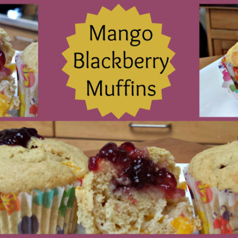 Mango Blackberry Muffins