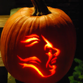 pumpkin by Tim Hauser - Public Holidays Halloween ( carved, ghoul, pumpkin, scarey, halloween )