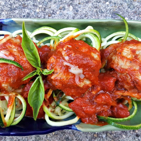 Meatloaf Meatballs with Zucchini Noodles and RAGÚ