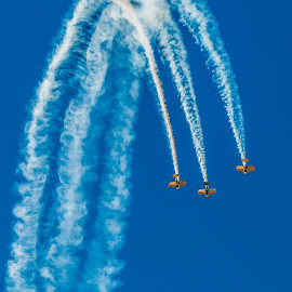 Coming Down by Johan Jooste Snr - Transportation Airplanes ( aeroplanes, aircraft, display, smoke, namibia, air show )