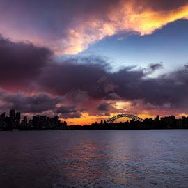 Stormy Sunset over Sydney  by Angela Taya - Novices Only Landscapes
