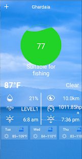 Fishing Weather - Weather forecast & Fishing Index screenshot for Android