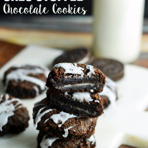 Inside Out Stuffed Oreo Cookies