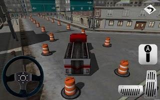 Screenshot of Fire Truck Parking 3D