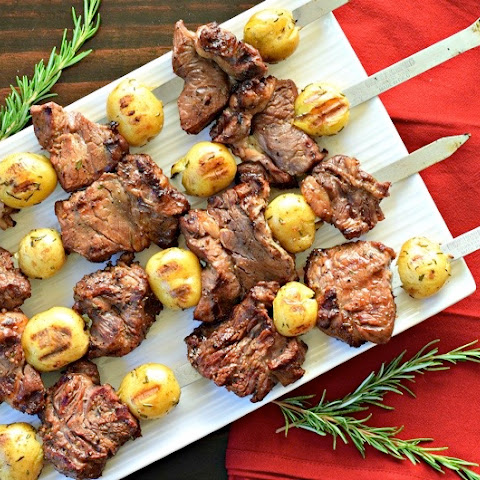 Steak and Potato Skewers