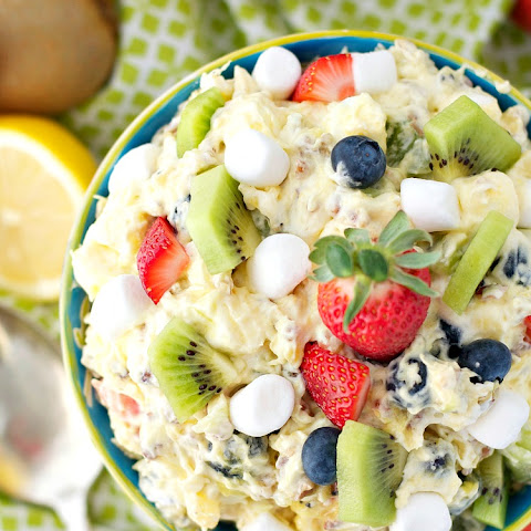 """Spring Fling"" Fluff Fruit Salad"