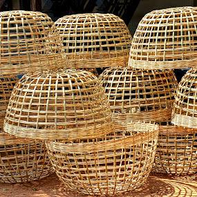 Sweetheart baskets. by Tupu Kuismin - Products & Objects Business Objects ( rattan, handcraft, basket, battern, asia, cambodia )