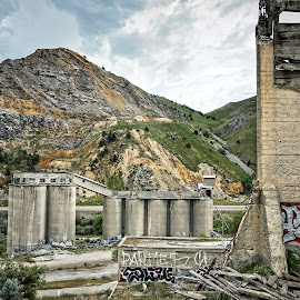 Ruins of the Lime Cement Plant  by Todd Reynolds - Buildings & Architecture Decaying & Abandoned