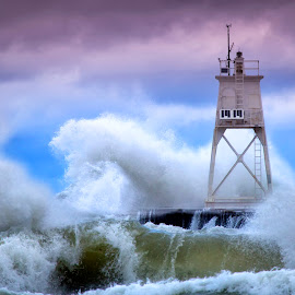 Fury by Ken Smith - Buildings & Architecture Other Exteriors ( lake michigan, grand marais, lighthouse )