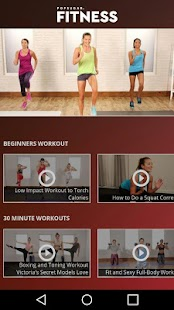 Popsugar Fitness Fitness app screenshot for Android