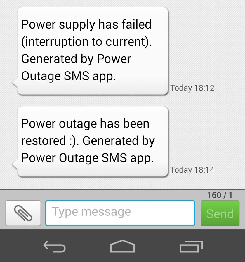 Power Outage SMS Alert Premium Screenshot 2