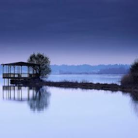 Meditação... by Rui Catarino - Landscapes Waterscapes ( blue, pateira de fermentelos, azul, lagoa, reflexes )