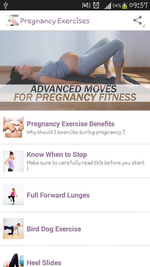 Pregnancy Exercises Screenshot