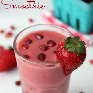 Pomegranate Strawberry Smoothie