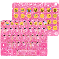 Pink Glitter Keyboard Theme For PC (Windows And Mac)