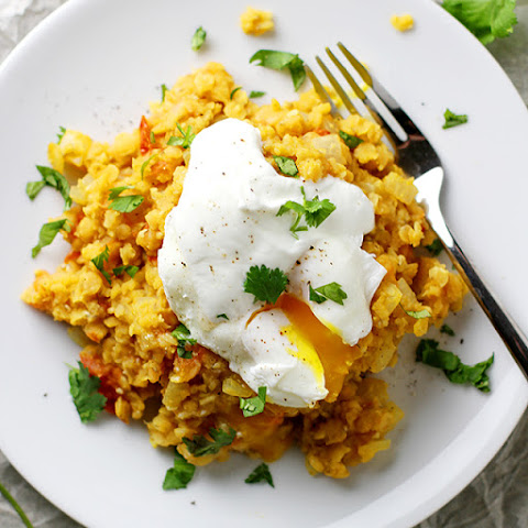Spiced Lentils with Poached Eggs